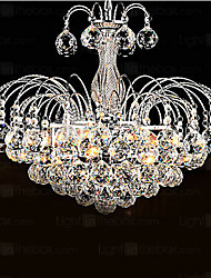 cheap -Modern/Contemporary Crystal Chandelier Downlight For Living Room Bedroom Dining Room 110-120V 220-240V Bulb Included