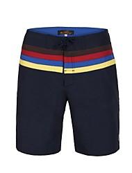 cheap -Men's Polyester Waist Stripe Surf Beach Short