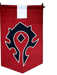 cheap -Cosplay Accessories Inspired by WOW Cosplay Anime/ Video Games Cosplay Accessories Flag Red Terylene Male