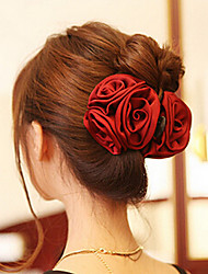 baratos -Mulheres Elegante Acrílico / Tecido Garra de cabelo - Flor / Molas / Molas