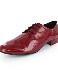 Dos homens de couro superior de dança moderna sapatos Oxfords com rendas-ups