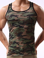 cheap -Men's Sport Camouflage Army Green Tank Vest