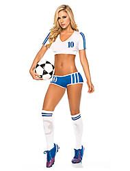 Недорогие -2014 Чемпионат мира по футболу Футбол Baby Blue & белый полиэстер сексуальная форма
