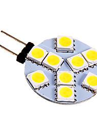 billige -130-180 lm G4 LED-lamper med G-sokkel 9 leds SMD 5050 Kold hvid DC 12V