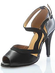 Индивидуальные Женская мода кожа верхних танцевальной обуви для латинского и Salsa