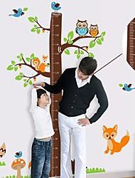 Createforlife arbre de bande dessinée ® Toise enfants autocollant de pièce de crèche mur Wall Art Stickers
