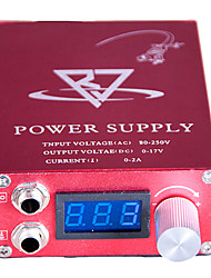 cheap -LCD Blue screen Red Tattoo Power Supply