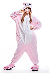 cheap -Kigurumi Pajamas Mouse Onesie Pajamas Costume Polar Fleece Pink Cosplay For Adults' Animal Sleepwear Cartoon Halloween Festival / Holiday
