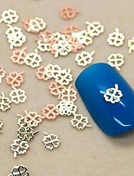Недорогие -200шт четыре листа формы клевер ломтик металл украшение искусства ногтя