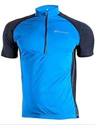 Nuckily Cycling Jersey Men's Short Sleeves Bike Jersey Top Quick Dry Ultraviolet Resistant Wearable Breathable Polyester Patchwork Spring