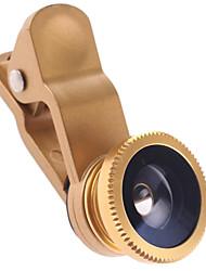 3-em-1 Olho de Peixe, Ângulo Macro e Wide Photo Lens para iPhone / iPad e Outros (cores sortidas)