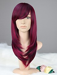 cheap -Women Capless Vogue Long Straight Purple & Black Synthetic Wig with Bang