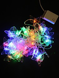 5M 40-LED Multicolor Butterfly Light String Wedding Party Christmas Lamp (AC220V)