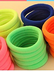 (3PC Random)Pretty Casual and Practical Fuzzy Multicolor Strong Elastic Hair Bands