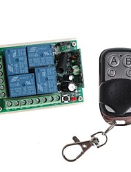 cheap -12V 4-Channel Wireless Remote Power Relay Module with Remote Controller (DC28V-AC250V)