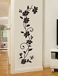 cheap -Botanical Romance Fashion Wall Stickers Plane Wall Stickers Decorative Wall Stickers,Vinyl Material Washable Removable Home Decoration
