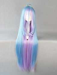 cheap -Cosplay Wigs No Game No Life Cosplay Blue Long Anime Cosplay Wigs 105 CM Heat Resistant Fiber Female