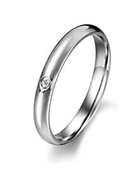 cheap -Women's Band Ring Silver Titanium Steel Fashion Wedding Party Daily Casual Sports Costume Jewelry