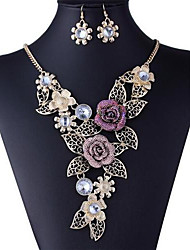 cheap -Women's Luxurious Multicolor Alloy (Earrings&Necklaces) Gemstone Jewelry Sets