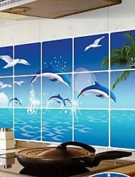 Doudouwo ® Animals The Dolphin Anti-Oil Wall Stickers