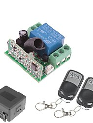 cheap -12V 1-Channel Wireless Remote Power Relay Module with Double Remote Controller (DC28V-AC250V)