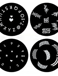 cheap -1PCS Nail Art Stamp Stamping Image Template Plate B Series NO.53-56(Assorted Pattern)