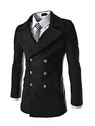お買い得  -男性用 コート-クラシック・タイムレス 純色 純色