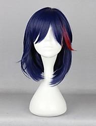 preiswerte -Cosplay Perücken KILL la KILL Cosplay Blau Medium Anime Cosplay Perücken 42 CM Hitzebeständige Faser Mann