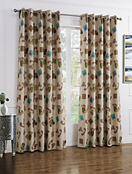 Two Panels Curtain Modern , Cartoon Kids Room Polyester Material Blackout Curtains Drapes Home Decoration For Window