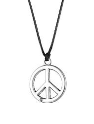 Недорогие -Мода из нержавеющей стали символом мира кулон ожерелье