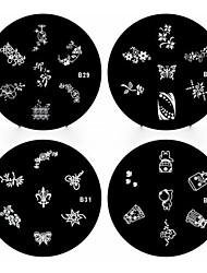 1pcs Nail Art Stamping Stempel Vorlage Platte b-Serie Nr.29-32 (verschiedene Muster)