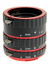 Aluminium-Legierung 3-teilige Makro Verlängerungsrohr-Set für Canon (gold, silber, rot, blau)