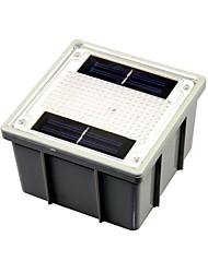 energia solare giardino esterno bianco percorso faretto mattone 2-led