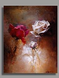 economico -Dipinta a mano Floreale/Botanical Verticale,Classico Un Pannello Hang-Dipinto ad olio For Decorazioni per la casa