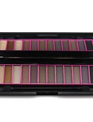 economico -Naras professionale 12 colori della palette di trucco opaco&palette shimmer ombretto con mirrror&doppio attacco spazzola 02 #