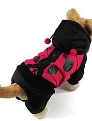 cheap -Cat Dog Coat Dog Clothes Color Block Cotton Costume For Pets Men's Women's Keep Warm Fashion