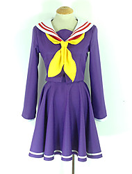 No Game No Life NGNL Shiro Japanese School Girls' Uniform Cosplay Costume