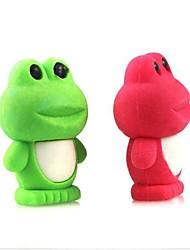 Cute Detachable Frog Shaped Eraser (Random Color x 2 PCS)