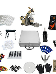 cheap -1 Gun Complete No Ink Tattoo Kit with Tatoo Machine and Ep-1 Power(Contain a Suitcase)