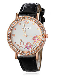 Women's Diamante Round Dial PU Band Quartz Analog Casual Watch (Assorted Colors) Cool Watches Unique Watches Strap Watch