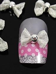10pcs bianco papillon per punte delle dita gli accessori del chiodo decorazione di arte
