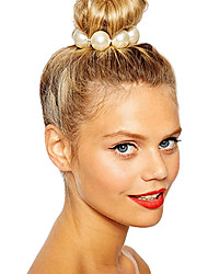 cheap -Women's Imitation Pearl Hair Tie Flower
