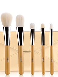 cheap -MSQ®5PCS Professional Golden Handle Makeup Brush With Free Case