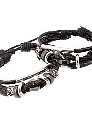 The New European Style Beaded Leather Woven Bracelet Jewelry Christmas Gifts