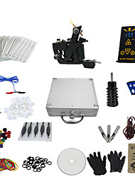 cheap -1 Gun Complete No Ink Tattoo Kit with K-Shaped Black Tatoo Machine and Ep-2 Power (Contain a Suitcase)
