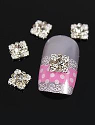 10pcs 3D DIY Glitter Square Alloy Rhinestone Nail Art Decoration