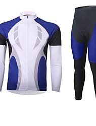 XINTOWN Muškarci Dugih rukava Biciklistička majica s tajicama Bicikl Kompleti odjeće, Ugrijati, Quick dry, Prozračnost, Izzadás-elvezető