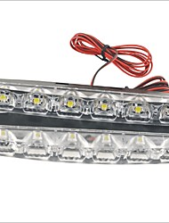 cheap -Carking™ 12V 6LED Universal Car Light DRL Daytime Running Head Lamp-White Light(2PCS)