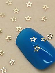 200PCS Tiny Hollow Star Shape Golden Metal Slice Nail Art Decoration