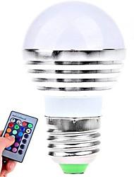 baratos -E26/E27 Lâmpada Redonda LED 1 LED de Alta Potência 180 lm RGB K Controle Remoto AC 85-265 V
